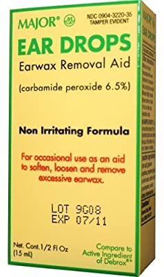 Ear Drops Earwax Removal Aid -- 0.5 fl oz By Major Compare to Debrox - by Major