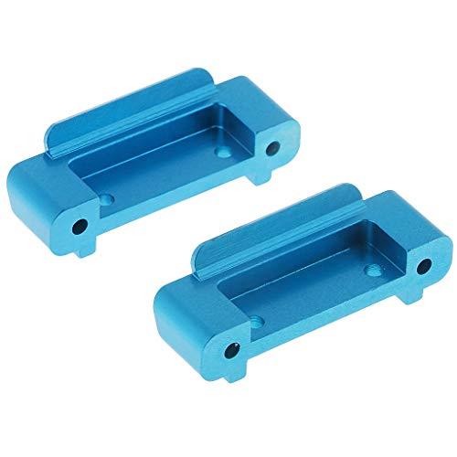B Blesiya 1 Paar Front Rear Anti-Collision StoßstangeUpgrade Parts Zubehör für 1/18 Wltoys A959-b A969-b A979-b RC Auto - Blau