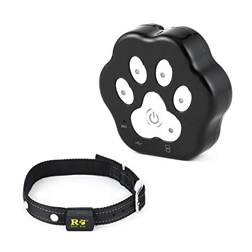 JohnJohnsen Wasserdichte GPS Tracker Smart-Locator Haustier Hund Katze Echtzeit Live-Position Tracking-Anti-verloren The Best Pet Care Equipment (schwarz)
