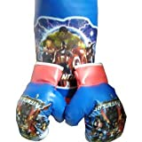 SR Collection Sports Kid's Boxing Set Kit,Kids Boxing Set (Punching Bag, Gloves & Headgear) Set Of 3,for Both Male And Female(Design May Vary)