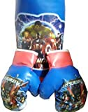 #4: SR Collection Sports Kid's Boxing Set kit,Kids Boxing Set (Punching Bag, Gloves & Headgear) Set of 3,for Both Male and Female(Design May Vary)