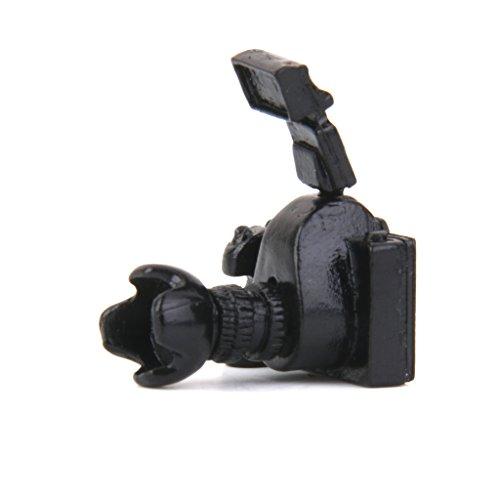 Puppenhaus Miniatur-Black-Metal-Kamera Maßstab 1/12 Black-metal-kamera