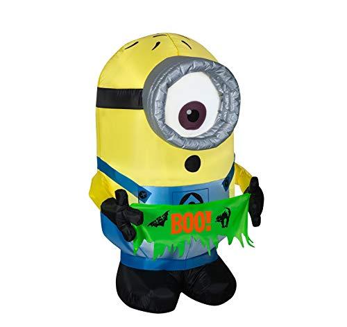 Gemmy Halloween Aufblasbare Carl mit Boo Banner 121,9 cm Innen-/Außenbereich, Urlaubs-Dekoration