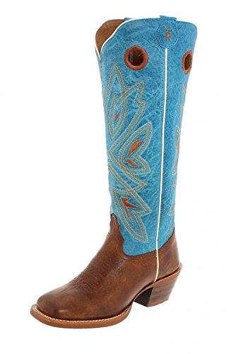 Tony Lama Buckarro Stiefel 3R2400L Braun Türkis Westernreitstiefel, Groesse:39 (9 US) (Boots Frauen Für Lama Tony)
