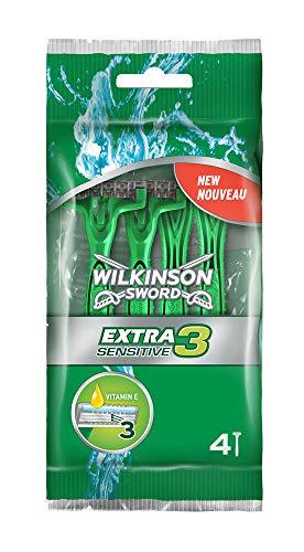 Wilkinson Sword Extra 3 Sensitive Herren Einwegrasierer , 4 + 2 St -