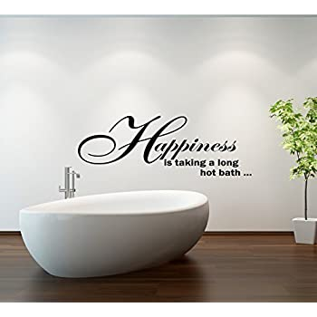 wall art desire happiness bath quote bathroom vinyl wall art decal sticker 14 colours available
