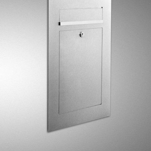 ZED Unterputz Briefkasten aus Edelstahl - 2