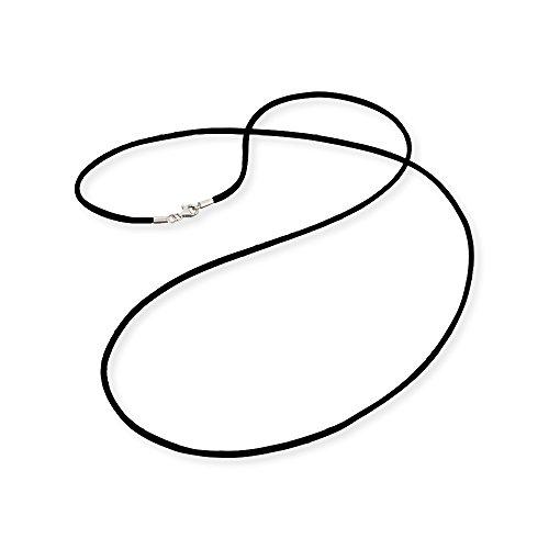 Engelsrufer Satinband Schwarz 925er-Sterlingsilber Länge 80 cm