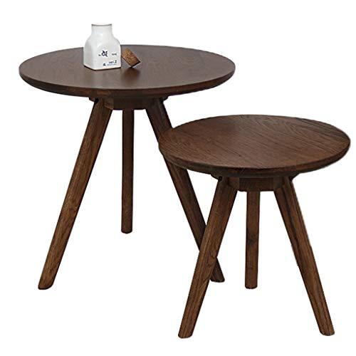 Tables basses en Bois Massif Petit Appartement Ronde Petite Table lit Petite Table Ronde Table Meubles de Salle à Manger