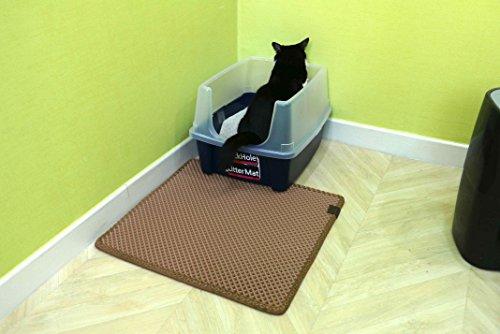 "BlackHole Cat Litter Mat - Extra Large (30"" X 23"") Double Structured Mat (Dark Grey) 7"