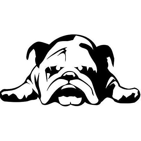 Eaglerich Bulldog inglese Stanco Puppy Dog Rescue vinile PER la cassa dell'automobile decalcomania della finestra del camion paraurti grafica della decorazione della parete di stile