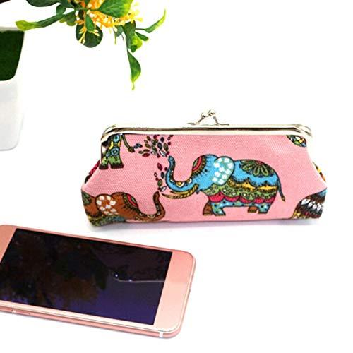 RQWY - Monedero Elegante para Chicas con Dibujos de Elefantes, Bolso de...
