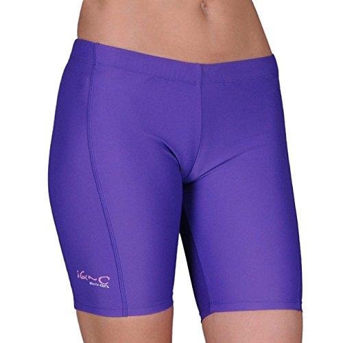 iQ-Company Damen Bikinihose UV 300 Shorts Watersport, Purple, XS, 663122-2390