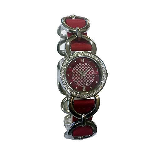 Go Girl Only 693883 Mädchen-Armbanduhr mit Zirkonia Lünette, Zifferblatt und rotem Armband