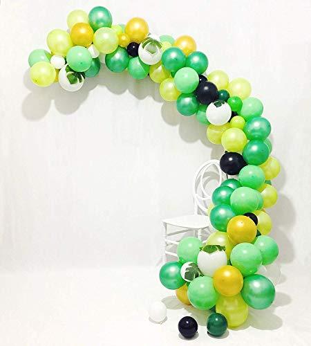 Erosion Safari Theme Partydekorationen 178pcs: 150 Latexballons, 24 grüne Palmblätter, 16 Füße Bogen-Ballon-Streifenband, 1 Ballon-Bindewerkzeug, 100-Punkt-Kleber, 32-Fuß-weiße Ballons (Themes Safari Für)
