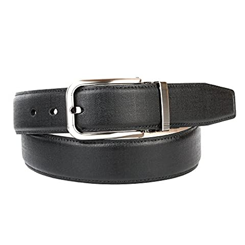 Anthoni Crown Men's 1PD10 Belt, Schwarz (Schwarz 010), 90