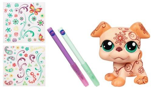 Imagen principal de Hasbro Littlest Pet Shop Deco pet Perro - Mascota de juguete de gran tamaño personalizable (12 cm, incluye pegatinas y purpurina)