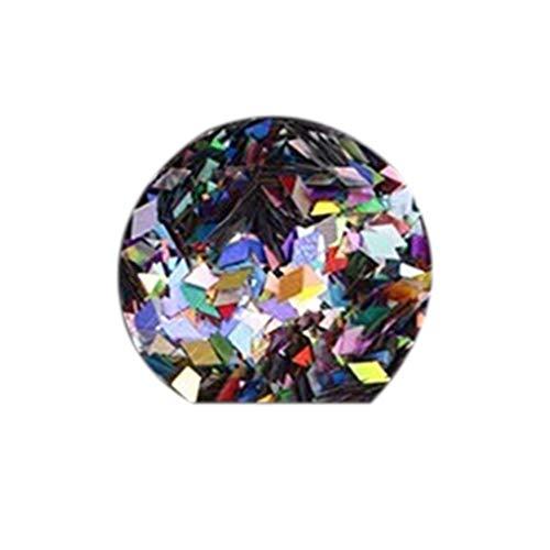 Meisijia 6 Flaschen Glitter Rhombus Nail Pailletten 3D Thin Tipps Funkelnde Paillette-Maniküre-Nagel-Kunst-Dekoration zufällige Farbe - Handy-kästen Für 3 Anmerkung