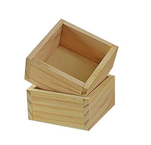 Cdet 2 Pcs Blumentopf Bücherregal Aufbewahrung Holz Farbe Woody Desktop Aufbewahrungskiste Gartenarbeit Saftige Pflanzen Blumentopf Platz Kleine Holzkiste Lagerung Box (Bücherregal-paket)