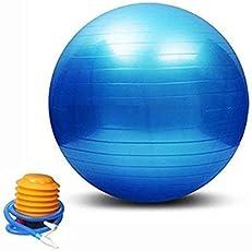 Anti-Burst Gym Ball with Pump 65/75/85/95 cm - Blue