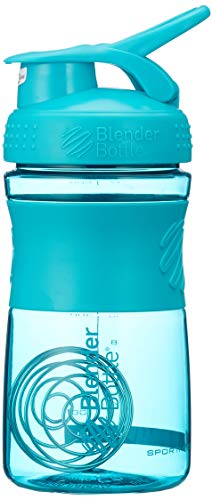 BlenderBottle Sportmixer Tritan Shaker   Protein Shaker   Wasserflasche   Diät shaker Teal (20oz / 590ml) - Mixer Flasche Oz 20