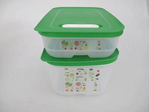TUPPERWARE Kühlschrank 4,4 L + 1,8 L dunkelgrün KlimaOase PrimaKlima Klimakönig 8371 - Frisch Kühlschrank Tupperware