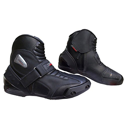 Speed Maxx Ltd Cuir v/éritable pour Homme Moto//Moto CE Racing Sports Track Chaussures//Bottes