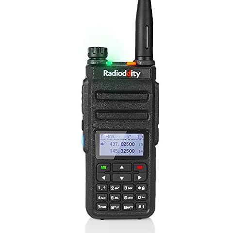 Radioddity GD-77 Dual Band Dual Time Slot DMR Digital / Analog Two Way Radio 1024 Channels Ham Amateur Radio Compatible with MOTOTRBO, Free Programming