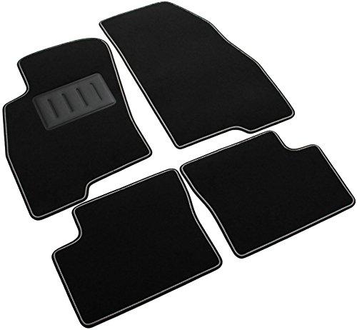 Il Tappeto Auto ndash; Auto-Fußmatten-Set Sprint00004, rutschfest, Farbe: schwarz, zweifarbiger Rand, Absatzschoner aus Gummi, passgenau für folgendes Fahrzeugmodell: Grande Punto.