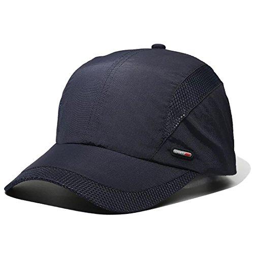LAOWWO Sombrero de Gorra de Béisbol, Secado Rápido Delgado Gorra de Running Golf Deportes Gorros para El Sol para Hombres Mujeres