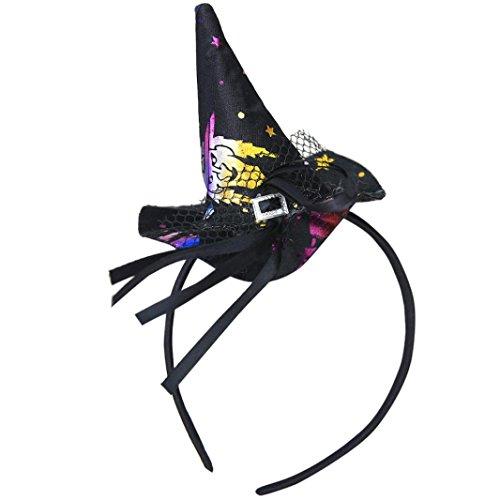 Hexenkappe Stirnband Transer® Erwachsene/Kinder Hexe-Hut Halloween Ornament Requisiten Zubehör für Halloween Party Karneval Größe: 22x11cm (Requisiten Halloween Einzigartige)