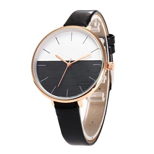 Relojes originales mujer,KanLin1986 relojes cuero relojes cuarzo mujer relojes deportivos relojes deportivos mujer relojes clásicos reloj casual mujer (BK)