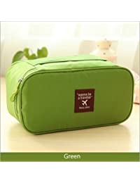 ShopAIS Multi Functional Travel Organizer Innerwear Cosmetic Make Up Bag Bra Underwear Pouch - Green