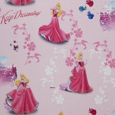 DELUXE Disney Princess/Prinzessinen 1 St.XXL Fertig-Schal/Gardine/Vorhang L 250cm x B 140cm PINK BLACK OUT Effekt NEU