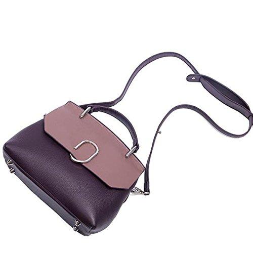 Koreanische Version Der Neuen Weiblichen Ledernen Schulter-schrägen Querhandtasche,Pink Black