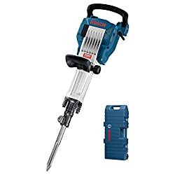 Bosch Professional GSH 16-30 Abbruchhammer, 400 mm Spitzmeißel, 30 mm Werkzeugaufnahme, 41 J Schlagenergie, 1.750 W, Trolley