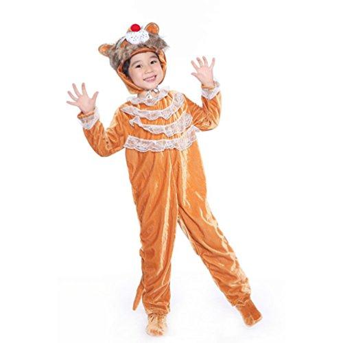 Honeystore Kind's Unisex Siamesische Kleidung Pyjamas Löwe Jumpsuit Pyjamas Cosplay Kostüme (Zwillinge Ideen Kostüm Siamesische)