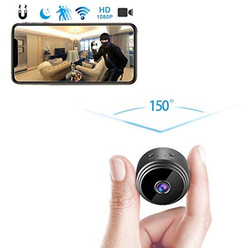 amaes Mini Kamera HD 1080P Mini Überwachungskamera Wireless WiFi WLAN Kleine Kamera Bluetooth P2P Drathlos mit Bewegungserkennung Nachtsicht kameras für iPhone/Android Telefon (Mini Wireless überwachungskamera)