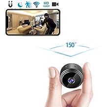 amaes Mini Cámara Espía Oculta 1080P HD WiFi Videocámara Portátil con visión Nocturna por Infrar Rojos