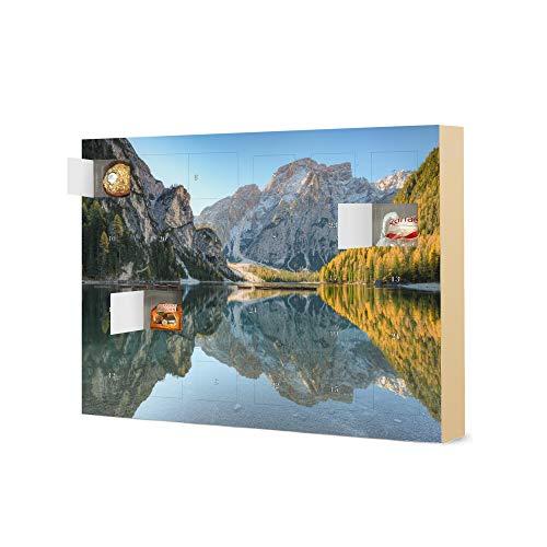 artboxONE Adventskalender XXL mit Pralinen von Ferrero Pragser Wildsee Südtirol Adventskalender Natur