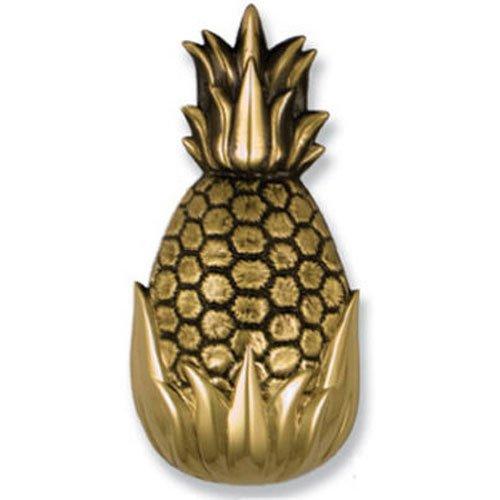 Gastfreundschaft Ananas Türklopfer–Messing (Premium Größe) (Türklopfer Messing Poliert)