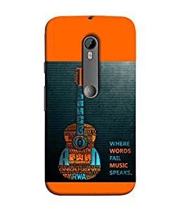PrintVisa Designer Back Case Cover for Motorola Moto G3 :: Motorola Moto G (3rd Gen) :: Motorola Moto G3 Dual SIM (Fail Music speaks)