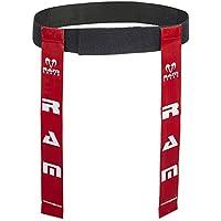 Ram Rugby cinturones - Set de 10 etiqueta cinturones y 20 - 2 tamaños etiquetas Rojo rosso Talla:large