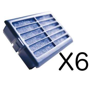 Whirlpool | Pacco da 6 - Microban ANT001, ANT-001, ANTF-MIC, 481248048172 - Filtro antibatterico per frigorifero - Sistema di protezione dell' aria