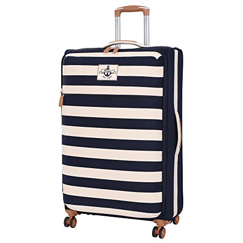 it luggage Anchor-Lite 8 Wheel Lightweight Suitcase Large Koffer, 80 cm, 98 liters, Mehrfarbig (Navy with White Bands)