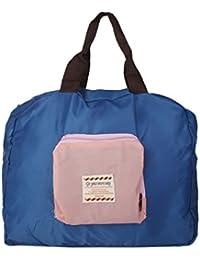 NF&E Shopping Bag Shopping Bag With Foldable Shoulder Bag In Blue Nylon