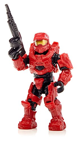 Mega Bloks 97224 - Halo Micro-Fleet Hornet Assault (Helmet), Konstruktionsspielzeug (Rot Halo-helm)