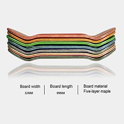 WJH9 1 Stück Mini-Skateboard Spielzeug FSB Finger Skate Boarding Kleine Alloy komplett aus Holz Maple Reduce Jungen-Kind-Kinder Erwachsene Druck Geschenke,c