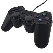 GOLF PS2 Wired Controller für Sony PlayStation 2 Schwarz