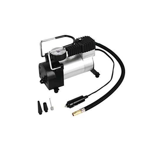 HJJH Luftkompressor-Pumpe 12V Elektrische Tragbare Digital-Reifen-Luftpumpe mit Zusätzlichen Düsen-Adaptern Für Auto-Fahrrad-Reifen und Andere Automobile